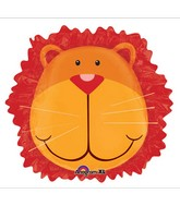 "24"" Jungle Animals Lion Head Balloon"