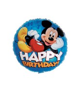 "18"" Mickey Mouse Happy Birthday Blue"