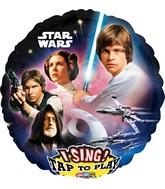 "28"" Singing Balloon Star Wars Balloon Packaged"