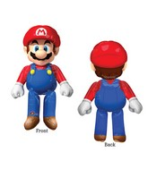 """60"""" Airwalker Mario Bros Balloon Packaged"""