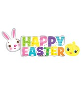 "44"" Jumbo Happy Easter Banner Balloon"