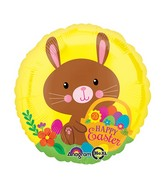"18"" Happy Easter Chocolate Bunny Balloon"