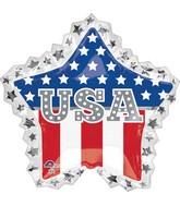 """34"""" Jumbo USA Star Ruffle Balloon"""