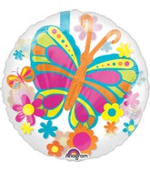 """24"""" Balloon Spring Butterfly Balloon Packaged"""