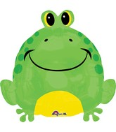 "18"" Happy Frog Balloon Packaged"