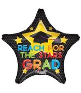 "28"" Jumbo Reach for the Stars Grad Balloon"