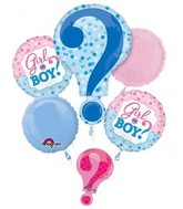 Gender Reveal Balloon Packaged Bouquet