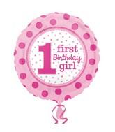 """18"""" 1st Birthday Girl Balloon"""