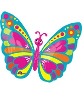 """26"""" Happy Spring Butterfly Balloon"""