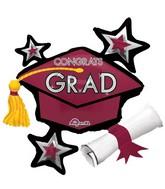 "31"" Jumbo Congrats Grad Berry Cluster Balloon"