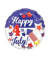 "18"" Happy 4th Balloon"