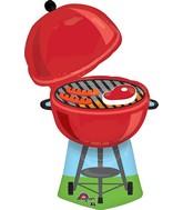 """36"""" Jumbo Red Grill Balloon"""