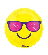 "21"" Junior Shape Happy Glasses Balloon Packaged"