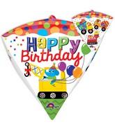 "17"" Jumbo Happy Birthday Construction Balloon Packaged"