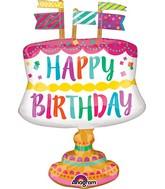 """24"""" Jumbo Fancy Cake with Flags Balloon"""