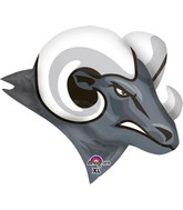 "24"" Jumbo Team Mascot Rams Balloon"