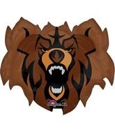 """27"""" Jumbo Team Mascot Bears Balloon Packaged"""