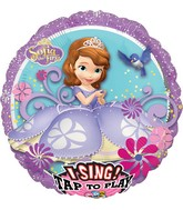 """28"""" Singing Balloon Sofia the First Balloon Packaged"""