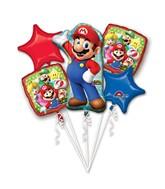 Bouquet Mario Bros Balloon Packaged