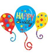 """34"""" Jumbo Birthday Balloon Bash Cluster Balloon"""
