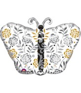 Wedding Congratulations Butterfly Balloon Packaged