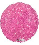"""18"""" Faux Sparkle Hot Pink Balloon"""