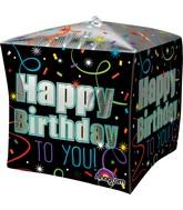 """15""""Cubez Jumbo Brilliant Birthday Balloon Packaged"""