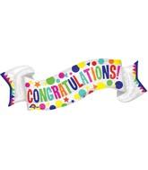 "40"" Jumbo Congratulations Banner Balloon"