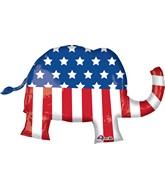 "40"" Jumbo Election Elephant Balloon Packaged"