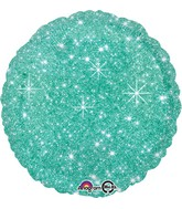 "18"" Faux Sparkle Green Balloon"