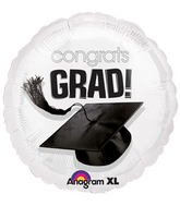 "18"" Congrats Grad Balloon White"