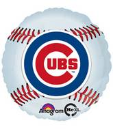 "18"" MLB Chicago Cubs Baseball Balloon"