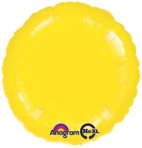 """18"""" Metallic Yellow Circle"""