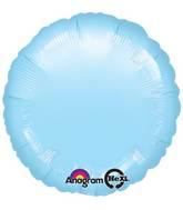 """18"""" Metallic Pearl Pastel Blue Circle"""