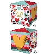"15"" Trendy Love Balloon Cubez"