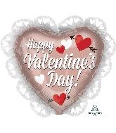 "23"" Happy Valentine's Day Rose Gold Balloon"