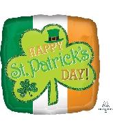 "18"" St. Patrick's Day Sparkle Balloon"