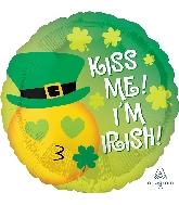 """18"""" Kiss Me Emoticon Balloon"""