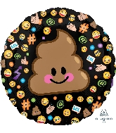 "18"" LOL Emoticon Balloon Poop"
