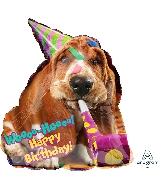"25"" Avanti Basset Hound Birthday Balloon"