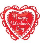 "23"" Happy Valentine's Day Doily Balloon"