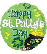 """18"""" Happy St. Patty's Day Pot of Gold Balloon"""
