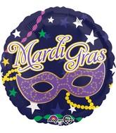 """18"""" Mardi Gras Mask Balloon"""