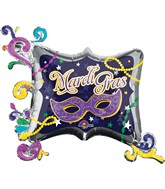 "34"" Mardi Gras Frame Balloon"