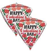 """15"""" Happy Valentine's Day Roses & Hearts Balloon"""
