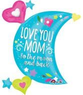 """32"""" Jumbo SuperShape Love You Mom Moon Balloon"""