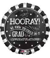 "28"" Jumbo Hooray Grad Balloon"