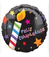 """18"""" Feliz Cumpleaños Candles Balloon"""
