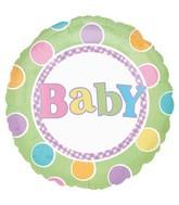 "18"" Baby Dots Green"