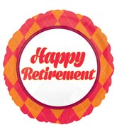 "18"" Retirement Balloon Plaid"